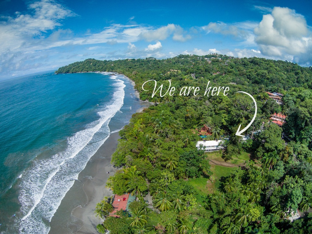 Hotel Verde Mar Aerial Photography Over Beach with Text
