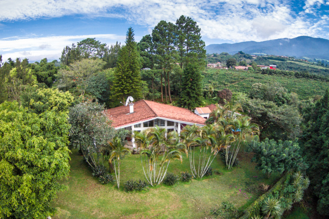 Aerial Photo of House View in Grecia, Costa Rica