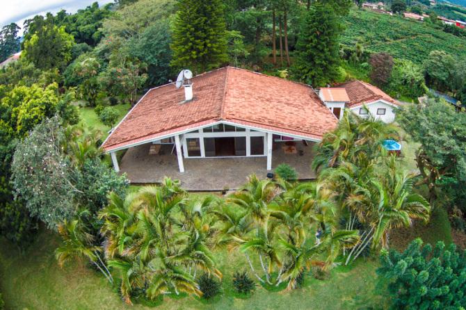 Aerial Photo of House in Grecia, Costa Rica