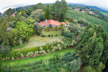 Aerial Photo of House up High in Grecia, Costa Rica
