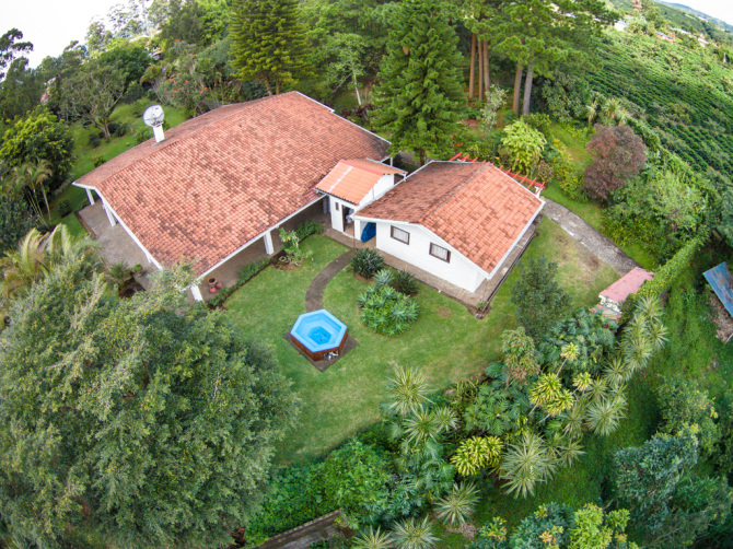 Aerial Picture of Casita and Pool