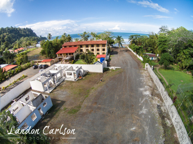 Jaco Oceanfront Property Close Up Aerial Drone Photo