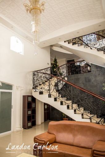Staircase and Couches