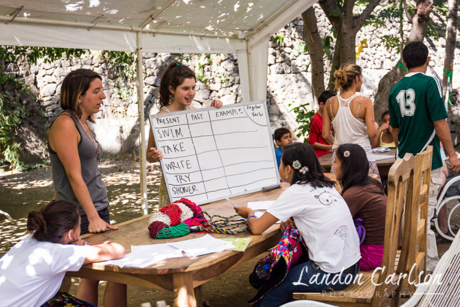 Volunteers Teaching English