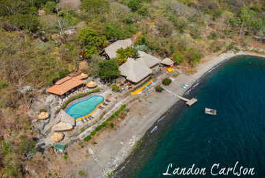 Aerial Photography of Apoyo Resort Lakeside