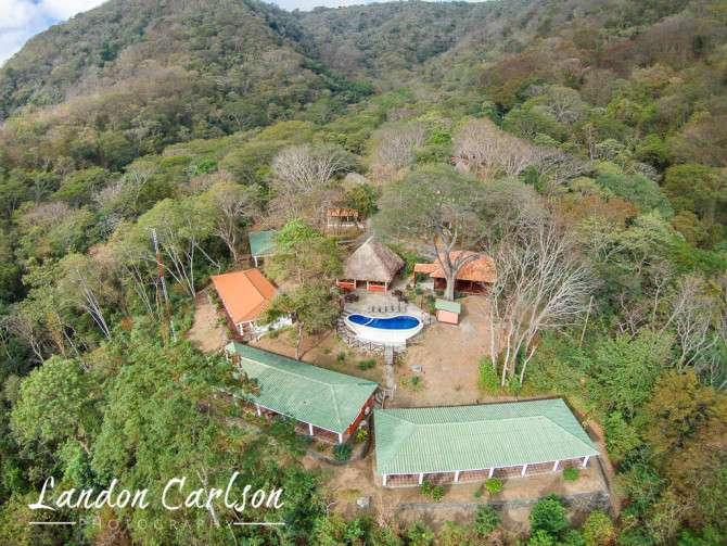 Aerial Photography of Hotel Pool Nestled in Trees