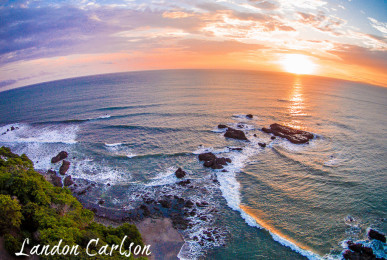 Aerial Beach Sunset