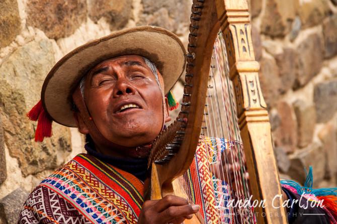 Harpist in Peru
