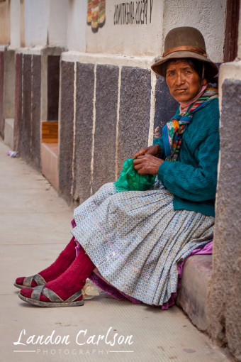 Indigenous Woman in Bolivia