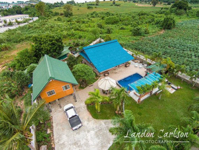 Aerial Photo of House in Thailand