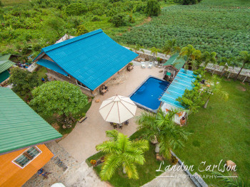 Aerial Photo of House with Pool in Thailand